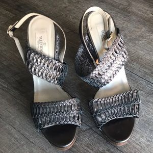 "Valentino 4.5"" platform heels"